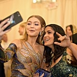 Pictured: Gigi Hadid and Salma Hayek