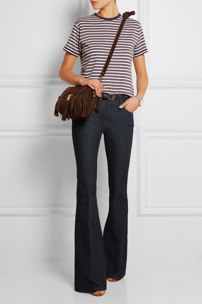 Victoria Beckham Denim High-Rise Flared Jeans, $378.08