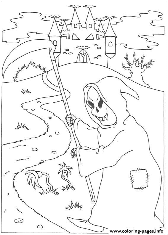 Get the coloring page: Grim Reaper