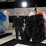 Designer Tomo Koizumi and Model Ariel Nicholson at the Tomo Koizumi Show during New York Fashion Week