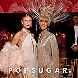 Rosie Huntington-Whiteley and Celine Dion