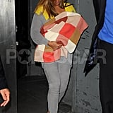 Beyonce Knowles went out in NYC.