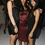 Kim joined her sister Kourtney and Lindsay Lohan for an LA party in November 2006.