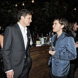 Colin Firth and Emile Hirsch caught up.
