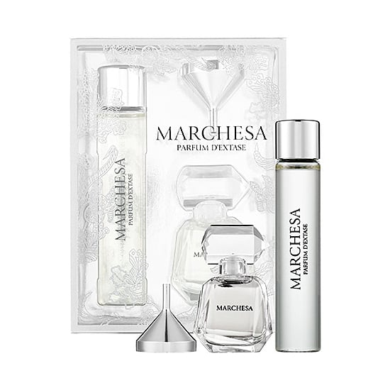 Give Mom the gift of a fresh, woody fragrance on the go with Marchesa's Parfum D'Extase Travel Duo ($29).