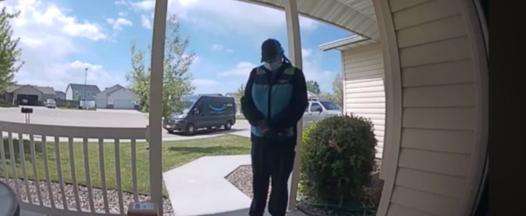 Amazon Delivery Woman Prays Outside Family's House | Video