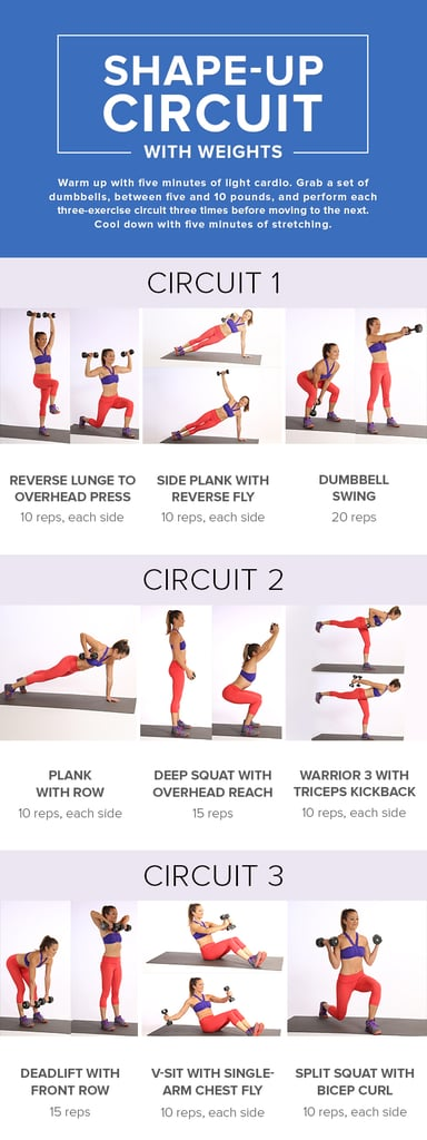 picture regarding Printable Dumbbell Exercises Pdf titled Bikini Work out With Weights POPSUGAR Exercise