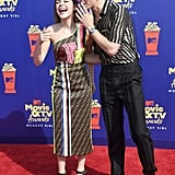 Kiernan Shipka and Ross Lynch at the 2019 MTV Movie and TV Awards