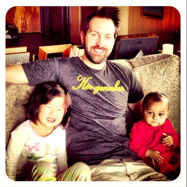 Josh Kelley soaked up some time with his girls, Naleigh and Adelaide. Source: Instagram user joshbkelley