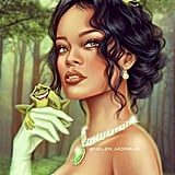 Celebrity Princess: Rihanna as Tiana