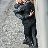 Four and Tris share a sexy embrace.