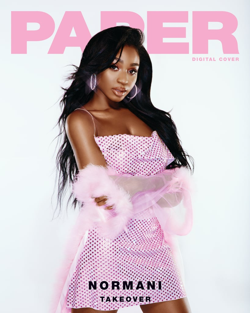 "If you haven't already heard her collaboration with Khalid, or any of her massively successful songs with Fifth Harmony, you'll soon know Normani. Following the dissembling of the girl group earlier this year, the 22-year-old singer — full name Normani Kordei Hamilton — has been pursuing a solo career. Now, she's on the digital cover of Paper as part of the magazine's ongoing Takeover series, which will spotlight five women in the music industry.  The glamorous editorial sees Normani in looks reminiscent of 2000s pop stars, like Mariah Carey and Destiny's Child, with high ponytails, vibrant eye shadow, and a lot of lip gloss. Our favorite makeup look, however, might be Normani's neon green eyeliner, which stands out as a modern trend in the otherwise nostalgic editorial. Normani also opened up to the magazine about how she developed her self-confidence at a young age, as reportedly one of the three black students in her school. ""When I went home [after school], my parents always made sure that they told me I was no different, and they told me I was just as powerful and just as beautiful,"" she said. ""I would ask questions like, 'Why isn't my hair this texture? I want my hair straight.' But they always instilled in me to love myself for all that I am."" Now, she hopes to help others build confidence through representation. ""I posted this one photo with my Afro, with my natural hair, and so many girls were like, 'Oh my God, I never liked my curls, but you make me build up the confidence to build a selfie.' All because of one post,"" Normani said. ""Simple things like that go such a long way and make such an impact in how people perceive and see themselves.""      Related:                                                                                                           Kendall Jenner Continues to Copy Paris Hilton's 2000s Style, and ""That's Hot"""