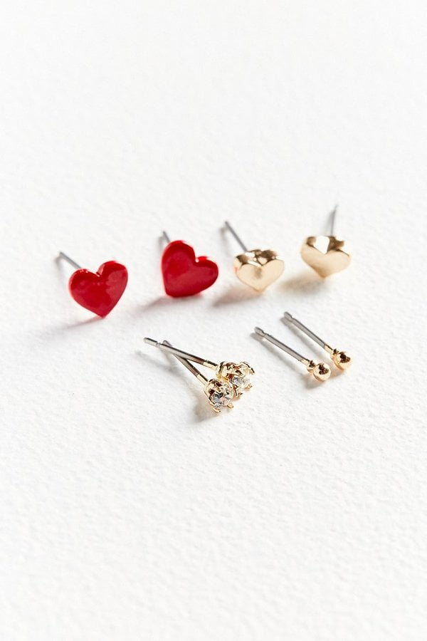 Urban Outfitters Blaire Heart Post Earring Set