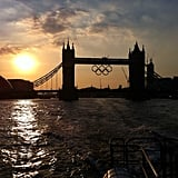 The team at NBC showed a picture of Tower Bridge at sunset.  Source: Instagram user NBCNews