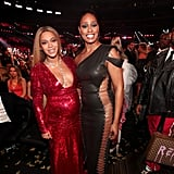 Beyoncé Knowles and Laverne Cox posed together in 2017.