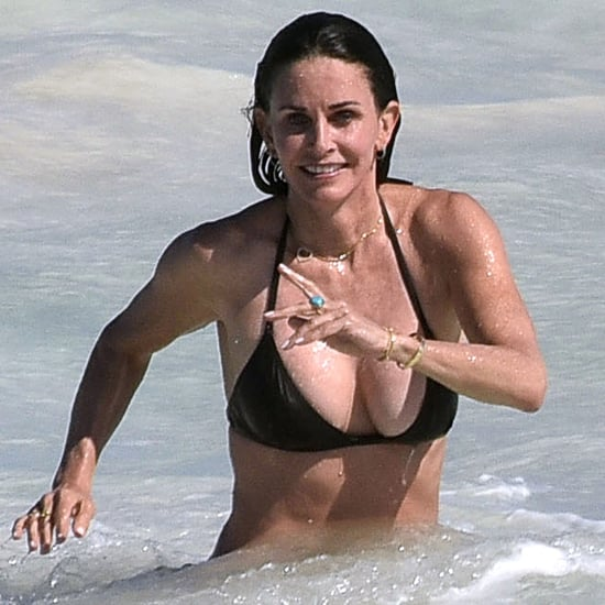 Courteney Cox Bikini Pictures in the Bahamas April 2017