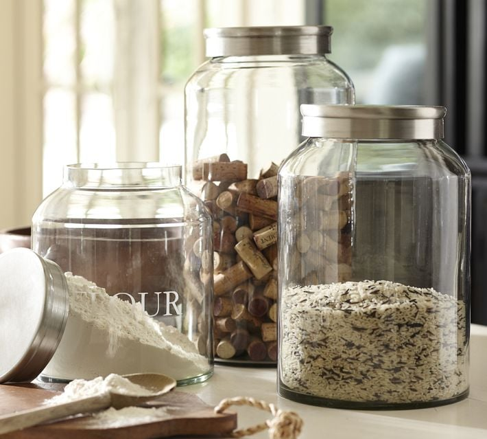 glass jars for bulk items cute reusable grocery bags popsugar food photo 8 - Large Glass Jars