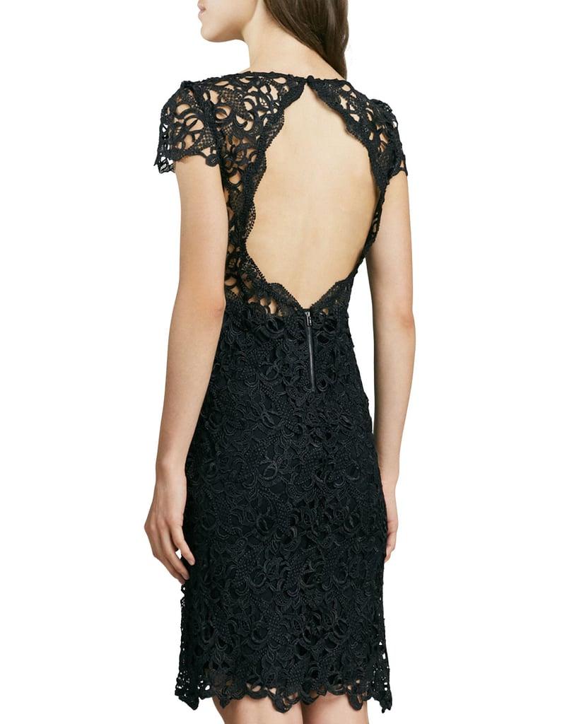 Alice + Olivia Clover Lace Open-Back Dress ($396)