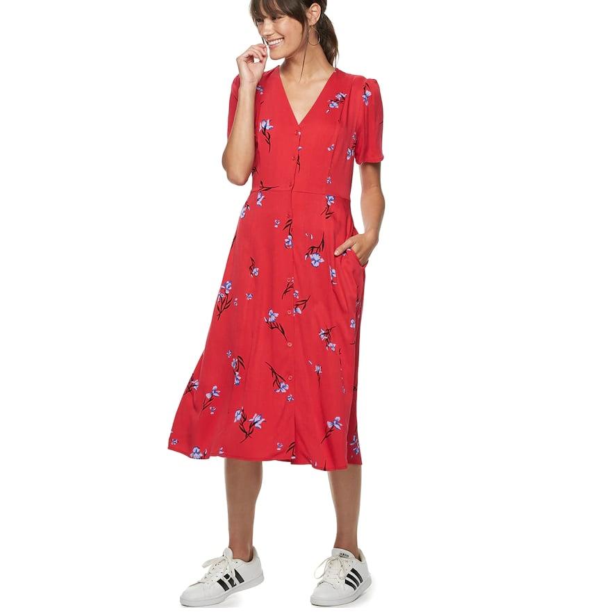 POPSUGAR at Kohl's Button-Up Midi Dress