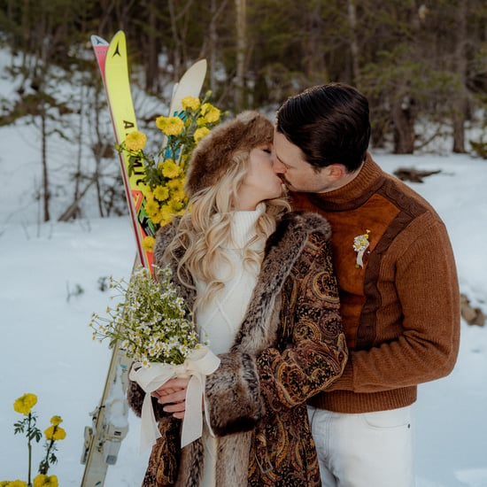 Vintage Colorado Snow Lodge Wedding