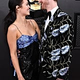 Finneas O'Connell and Claudia Sulewski on the Grammys Red Carpet in 2020