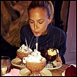 """Bar Refaeli posted a photo of what appears to be a Frrrozen Hot Chocolate from famed NYC hotspot Serendipity 3, warning her followers not to mess with a """"hungry model!!"""" Source: Instagram user barrefaeli"""