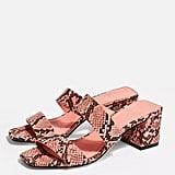Topshop Darla Pink Strap Mules