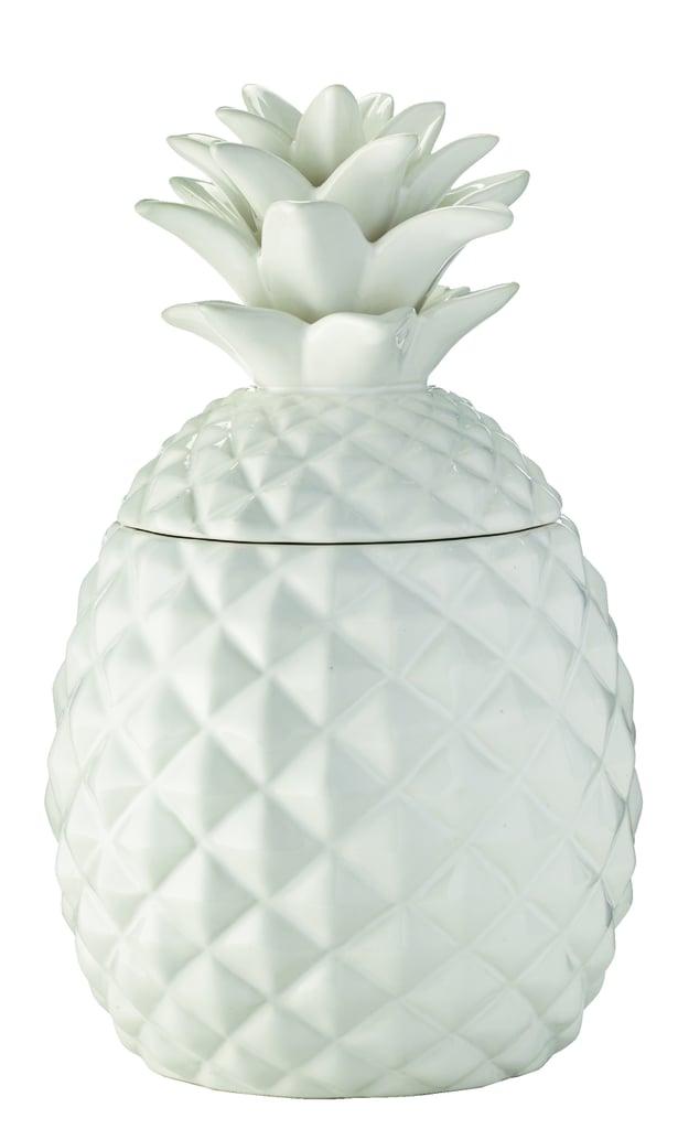 White Ceramic Pineapple Cookie Jar ($15)