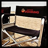 And there's Jason Dohring's chair. Source: Instagram user theveronicamarsmovie