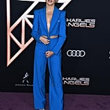 Maddie Ziegler's Blue Area Suit at Charlie's Angel Premiere