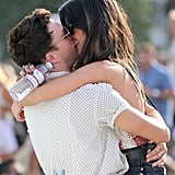 Shenae Grimes and Josh Beech laughed as they smooched.