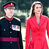 Queen Rania Red Coat at Sovereign's Parade