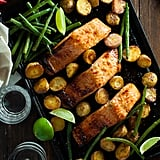 Honey-Lime Salmon With Potatoes and Green Beans