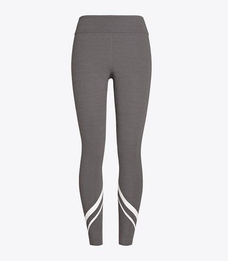 Melange Side-Pocket Chevron Leggings
