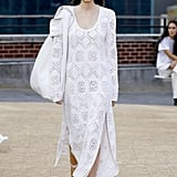 A White Lace Dress and Leather Bag From the Jonathan Simkhai Runway at New York Fashion Week