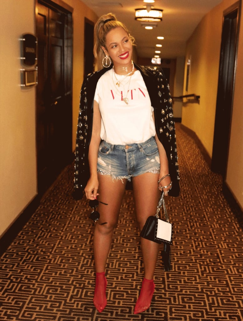 Beyonce Alexander Wang Red Fishnet Booties