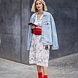 Instead of Belting Your Lightweight Dress, Add a Chunky Fanny Pack and Matching Booties