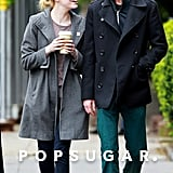 Emma Stone and Andrew Garfield smiled and laughed after having lunch in their NYC neighborhood.