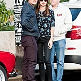 Miranda Kerr and Orlando Bloom crossed the street in Sydney.