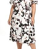 1.STATE Wrap Front Midi Dress