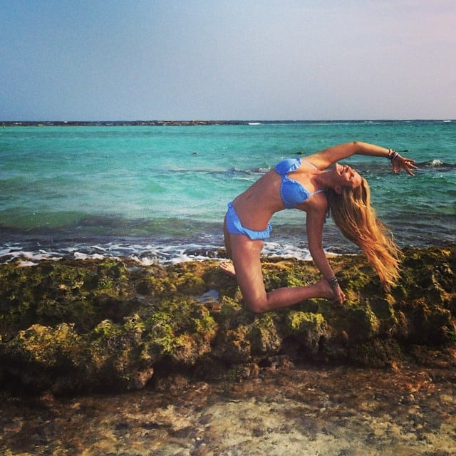 We also get this excited about yoga. Source: Instagram user yoga_girl