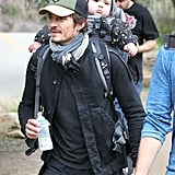 Orlando Bloom gave Flynn Bloom a lift.