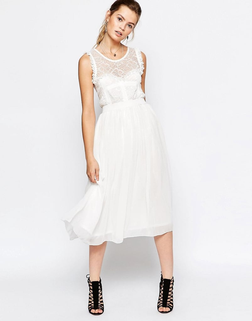 Navy London Midi Dress with Tulle Skirt ($128)