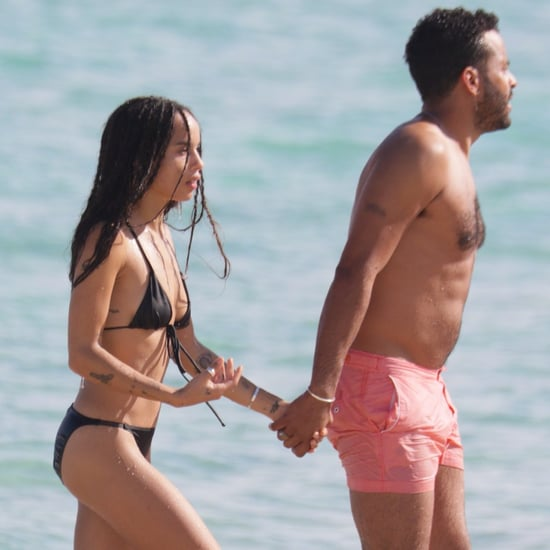 Zoe Kravitz and Her Boyfriend on the Beach in Miami Pictures