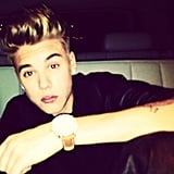 Justin Bieber showed off a glitzy gold watch. Source: Instagram user justinbieber