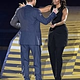 At the Invictus Games shortly afterwards, Harry and Michelle demonstrated their easy rapport.