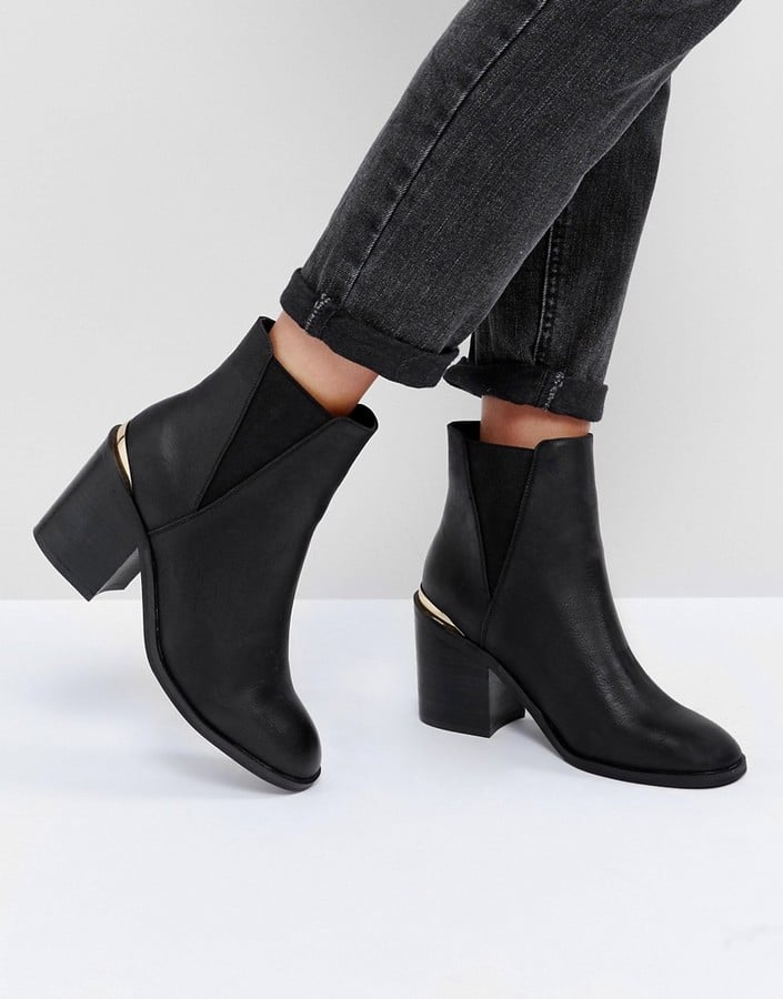 asos echo heeled chelsea boots vegan leather boots