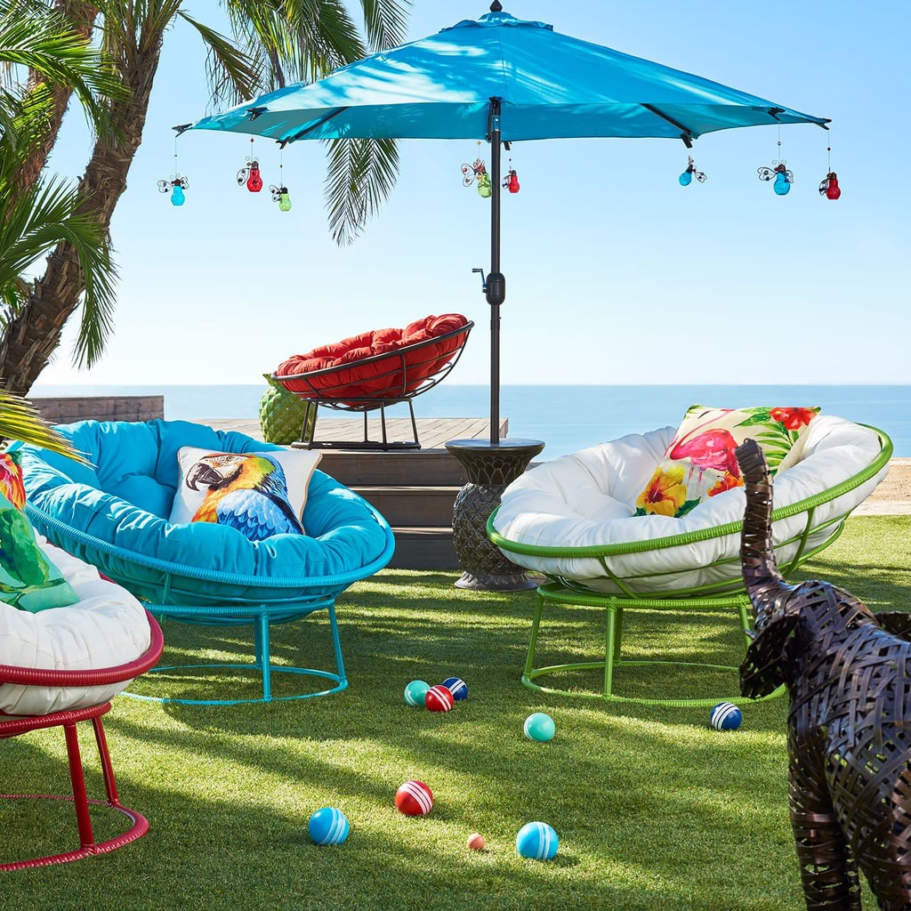 Outdoor Mocha Papasan Chair Frame | Pier 1 Imports Outdoor ...