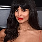 Jameela Jamil Grammys Red Carpet 2019