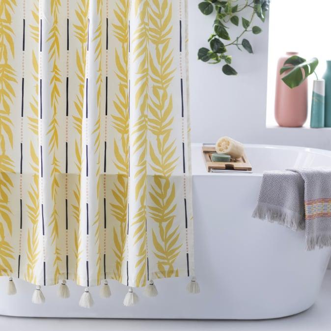 Vintage Palm Shower Curtain